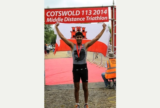 Akhil Viz after completing the Cotswold 113 middle distance triathlon in under four hours 30 minutes